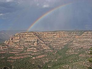 Rainbow over mesa
