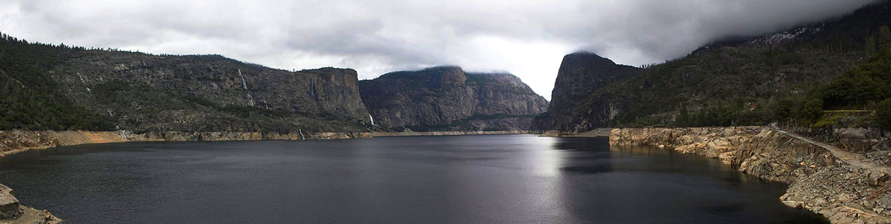 Hetch Hetchy valley after flooding