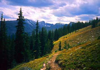 Photograph taken in  the Indian Peaks Wilderness