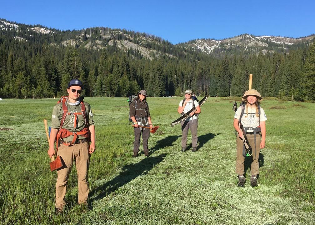 Wilderness ranger interns