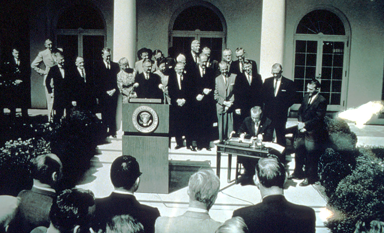 Wilderness Act being signed