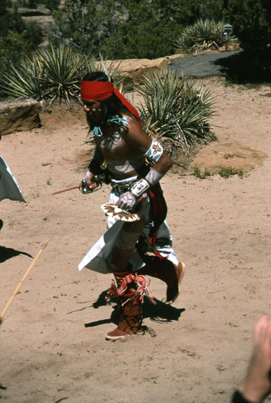 A native dancer, performing in a ceremony.