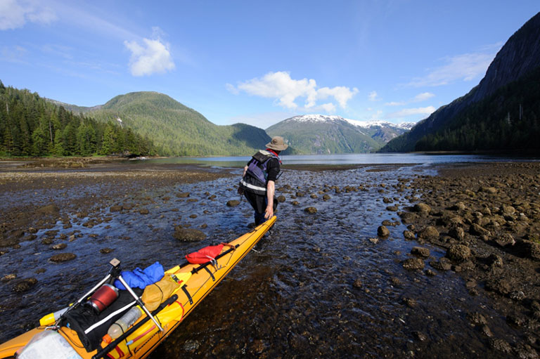 Kayaking in the Misty Fjords National Monument Wilderness in Alaska (Credit: Forest Service)