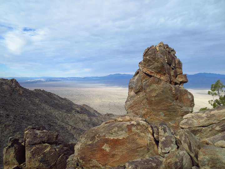 Brown and gray desert rocks