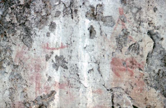 A close-up of Kawishiwi pictographs.