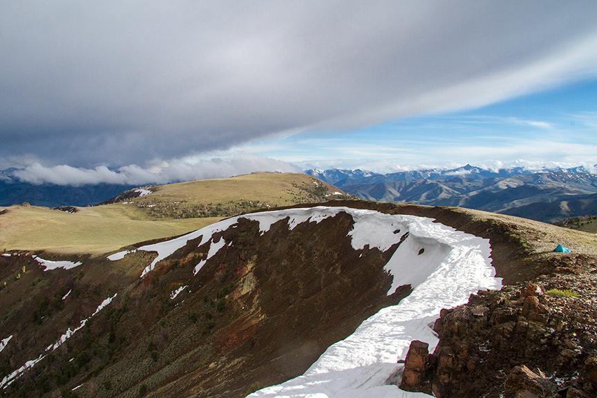A snowy ridge