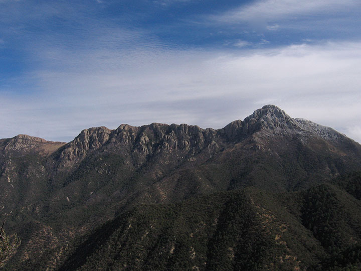 Mountains seen from a distance