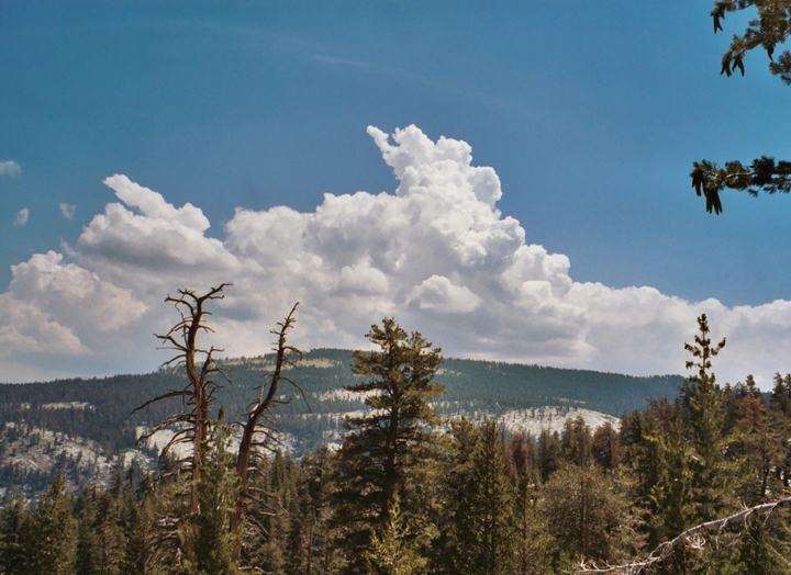 Summer thunderhead from the trail leading to Poop Out Pass.