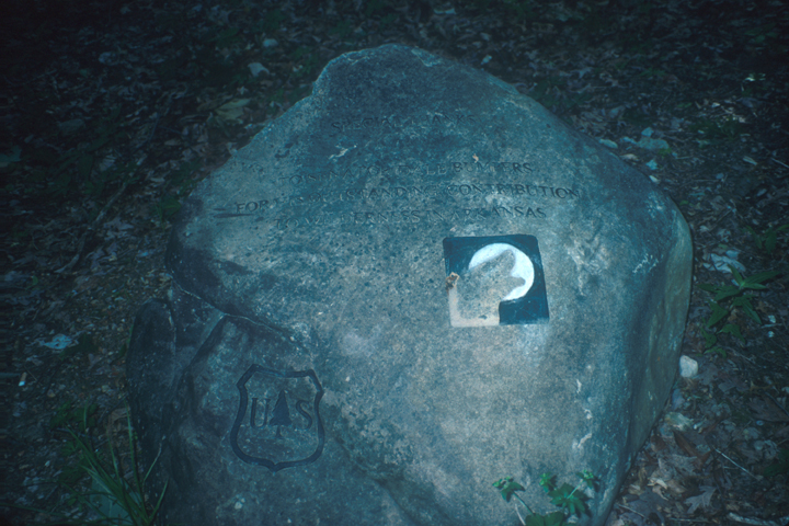 Leatherwoods Wilderness rock marker.