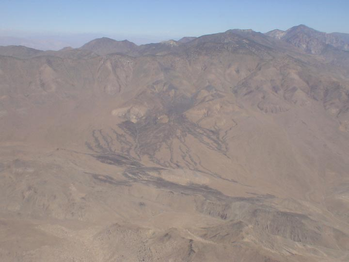 A mountainous area of the Death Valley Desert.