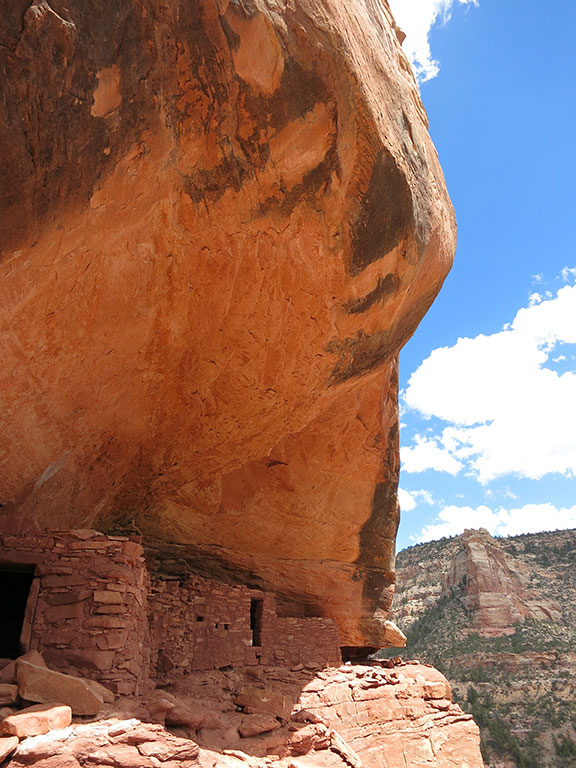 Cliff dwellings under an overhang