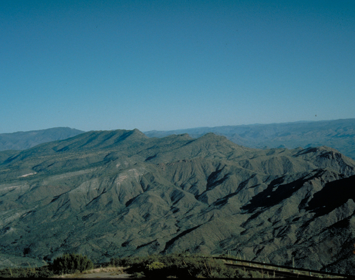 The hills are filled with dramatic dips and rises.  Deep shadows are cast into the valleys.