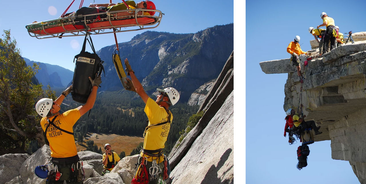 Search and rescue training in Yosemite National Park