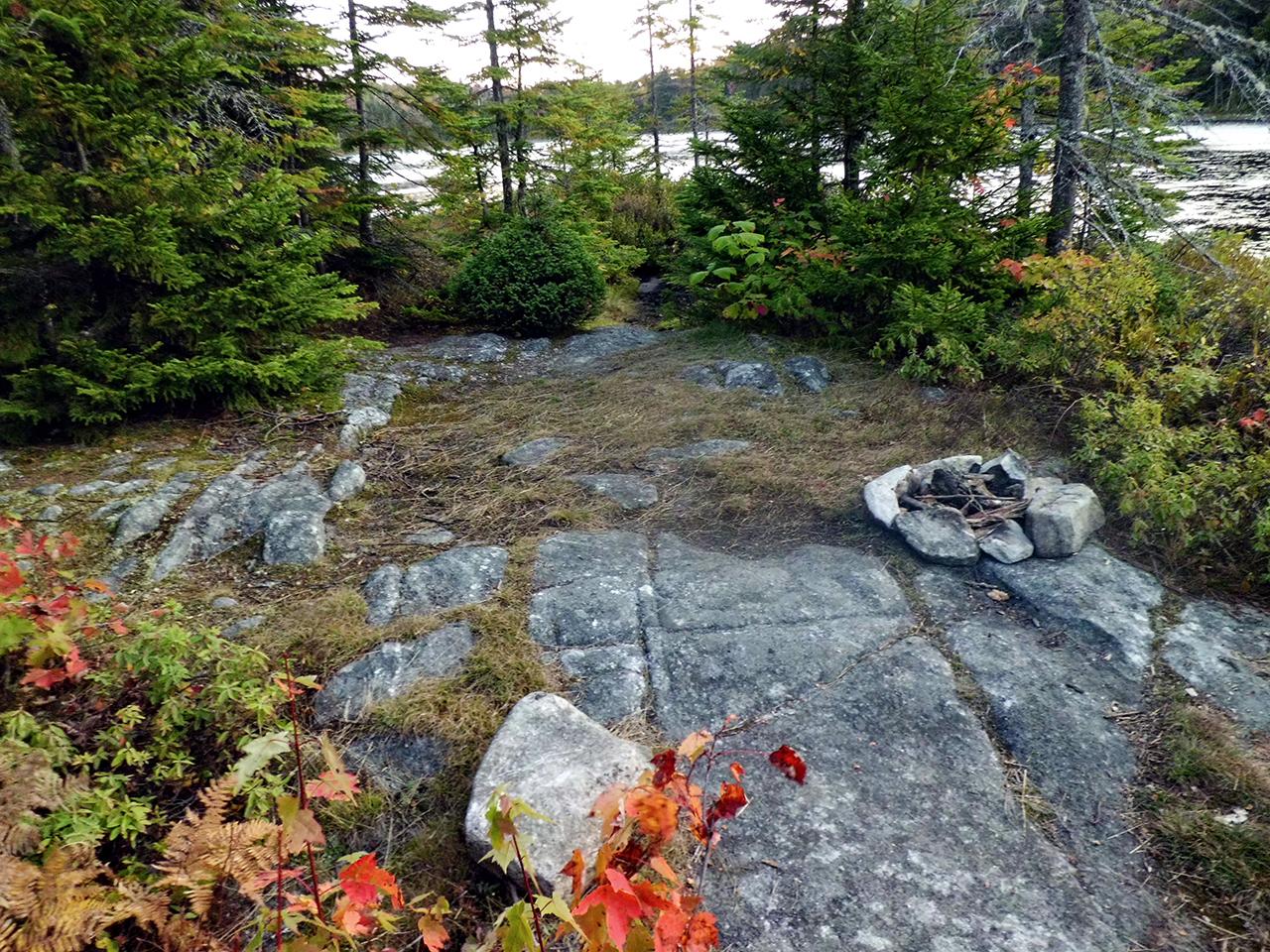 Bedrock campsite