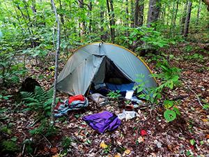 Tent pristing camping